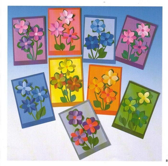 Открытки цветы своими руками из бумаги и картона, правда жизни смешные