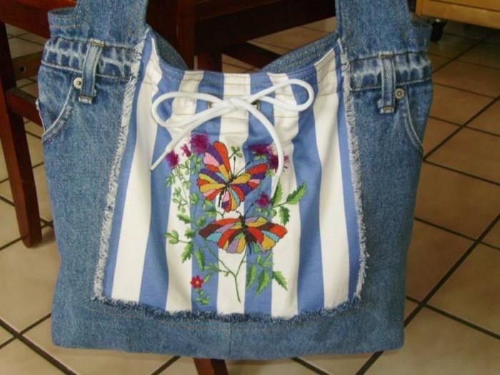 выкройка джинсовой сумки - Сумки.
