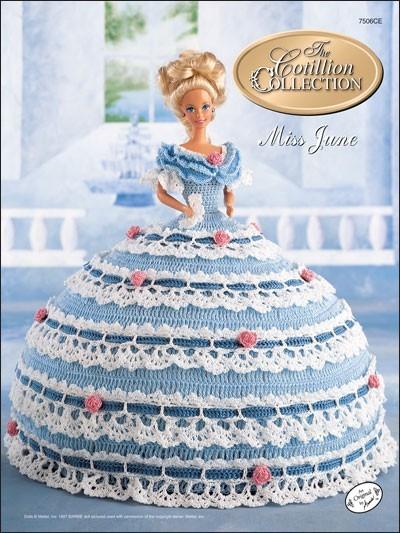 Вязаные крючком платья для балета на кукол