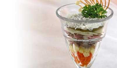 Салат-коктейль мясной. язык говяжий вареный - 100 грамм говядина вареная...
