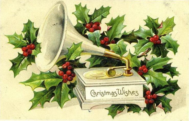 Предприятия, открытка символами с рождеством