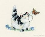 Вышивка крестом кошки бесплатные схемы скачать Вышивка прикреплеш еще.