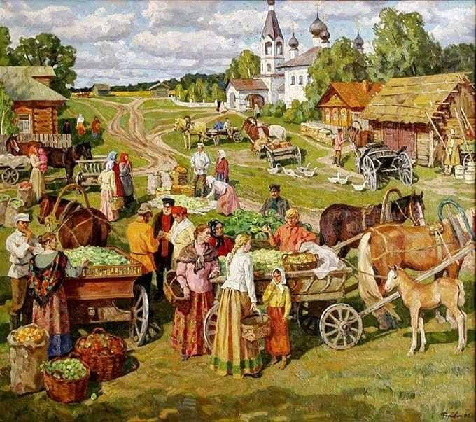 Нина и Валерий Родионовы «Яблочный Спас»