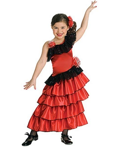 Этот новогодний костюм мне напомнил костюм испанской танцовщицы - он так...