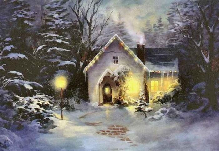 Анимационная картинка домик лесника в зимний период лучших