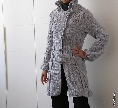 Описание: пальто вязаное пальто спицами вязаные.