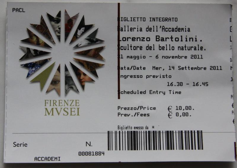 Билет в музей во Флоренции