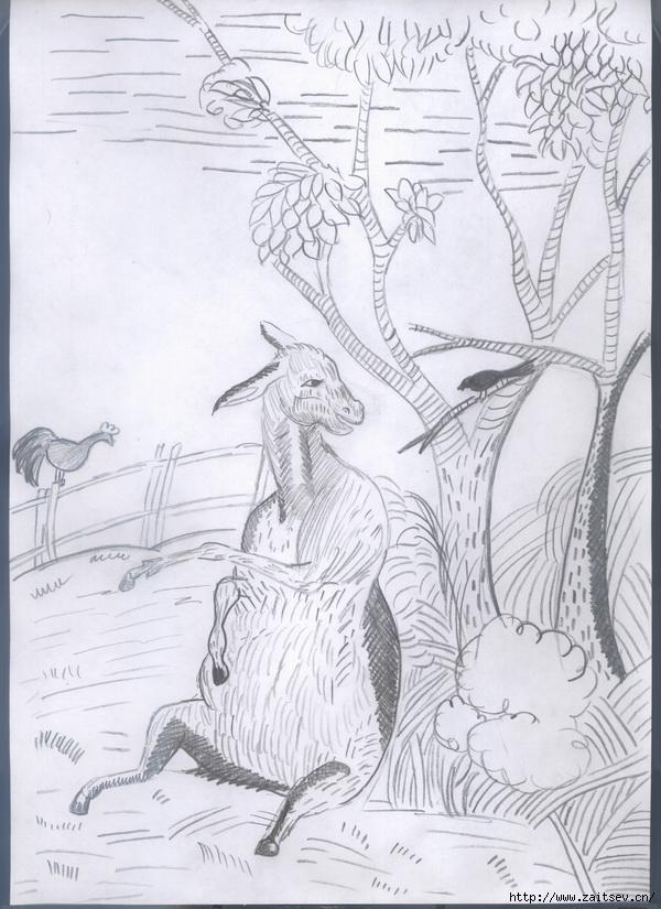 картинки к басне осел и соловей