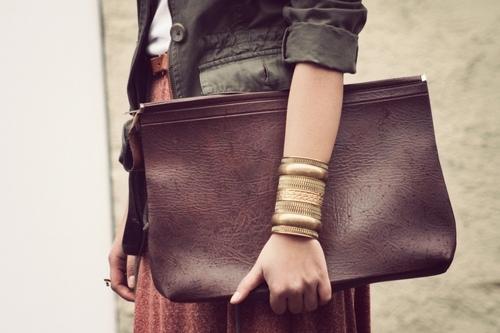 сумка, коричневый, мода, золото, винтаж - картинка 20093 на Favim.ru.