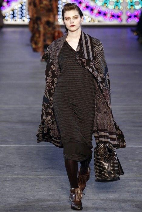 Теплые платья зима 2012, Кензо.
