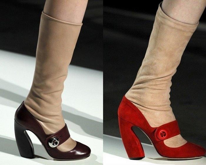 Обувь Prada осень 2011.Фото.