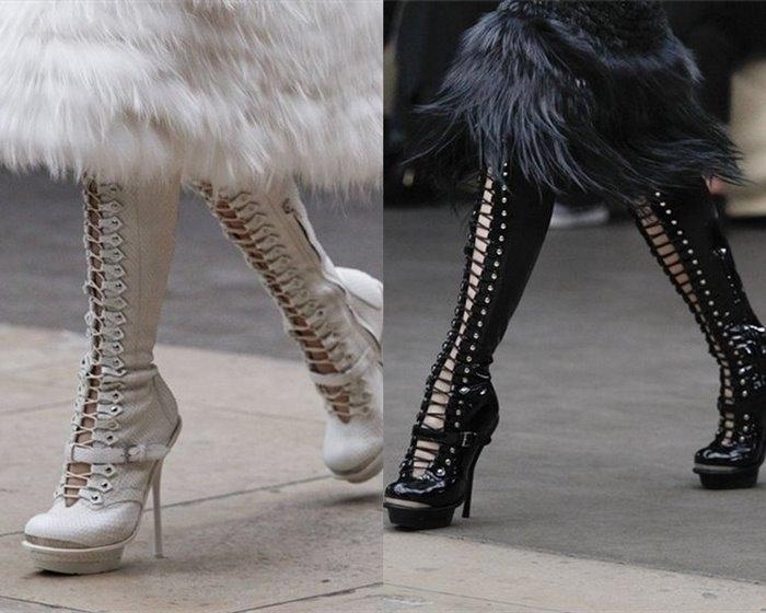 Женская обувь осень-зима 2011-2012 от Alexander McQueen.