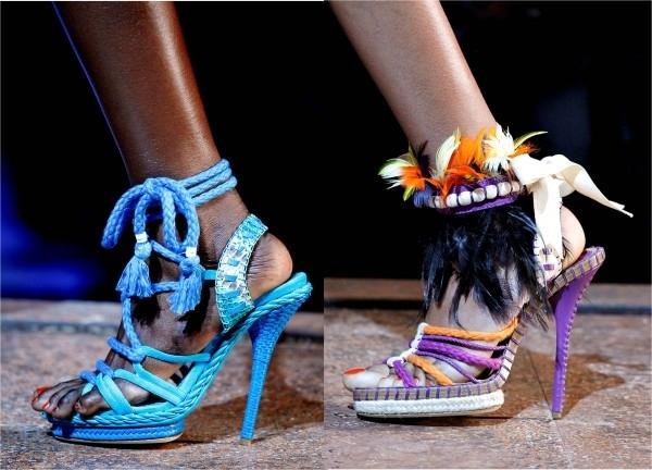 Представляем вам модную обувь весна-лето 2011 от Christian Dior на фото.