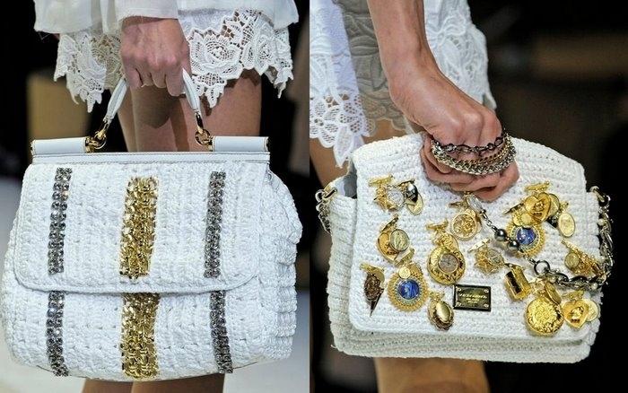 Фотография 5 - Вязаные сумки - Модные сумки. модные вязаные сумки 2012...