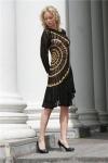 Вязаное платье 024.