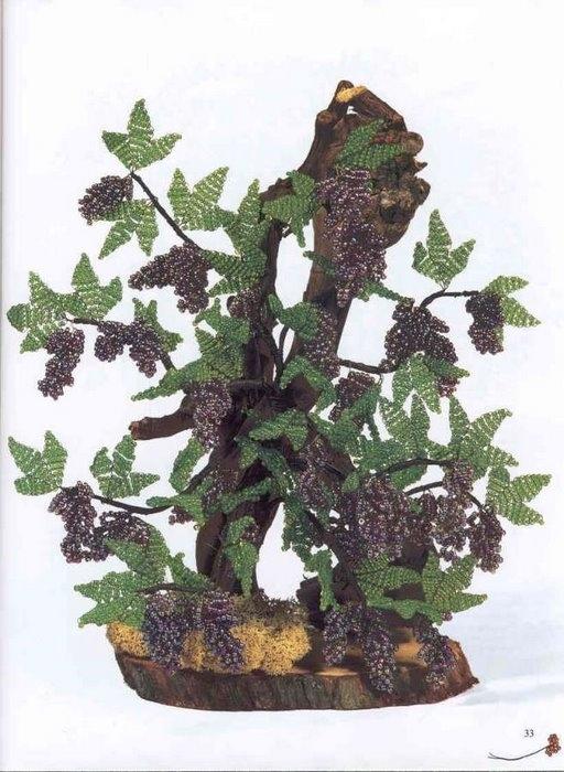 Деревья и цветы из бисера.  Зарубежный опыт.  Пробуем воплощать в жизнь!