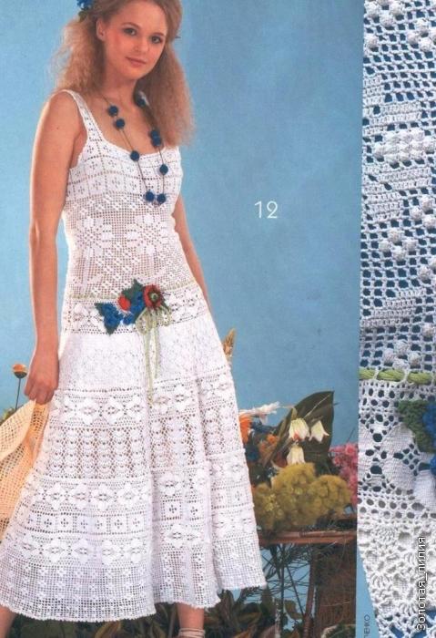 外网钩针连衣裙(445) - 柳芯飘雪 - 柳芯飘雪的博客