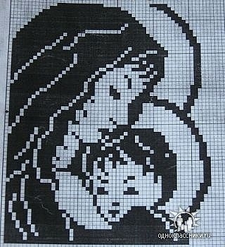 Схемы вышивания крестиком черно-белые» — коллекция пользователя.