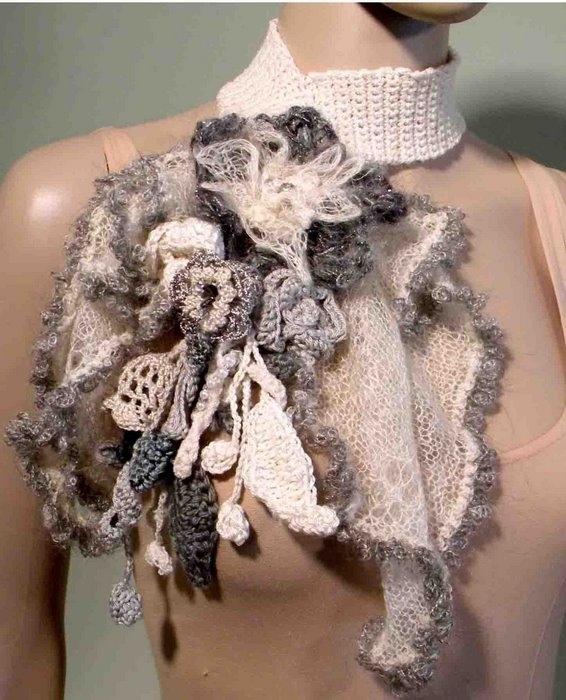 Автор:Admin. шарф капюшон крючком схема вязания.