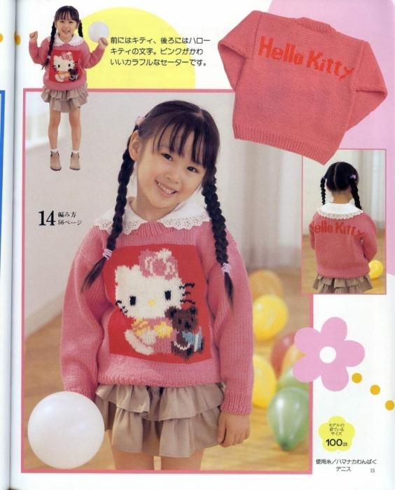 1.Hello Kitty свитер.