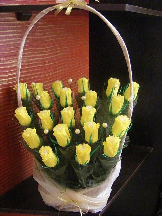 Сладкая композиция Бутоны роз Ярмарка Мастеров 48