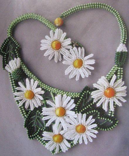 Колье из бисера схема бесплатно.  Если ваши любимые цветы каллы, то.