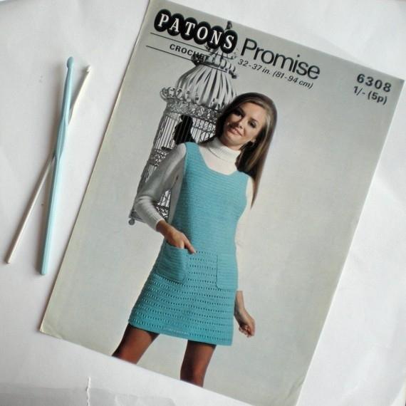 винтажное вязаниемодели из старых журналов очень интересномного