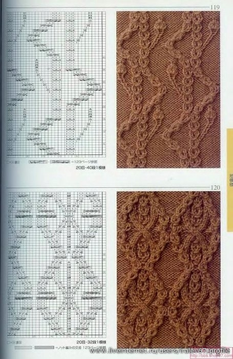 Knitting Patterns 500 (Узоры и схемы для вязания спицами.