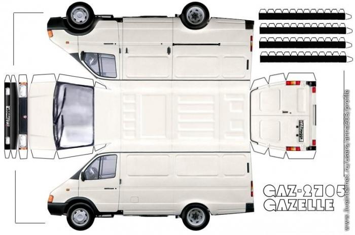 Большое количество моделей авто из бумаги на любой вкус