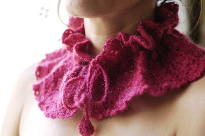 ...для вязания на спицах. .  В последние годы вязание снудов уверенно...