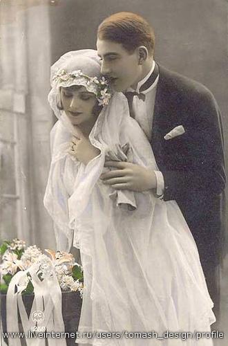 Винтажные открытки и фотографии со свадеб - Свадебное...