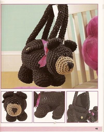 Метки: сумка.  Понедельник.  Вязаные сумки для девочек крючком.