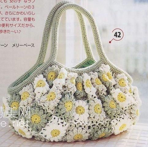 Вязаные летние сумки крючком со схемами.  Детские вязаные модели (идеи.