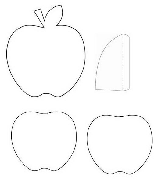 Открытках картинки, яблоко открытка шаблон