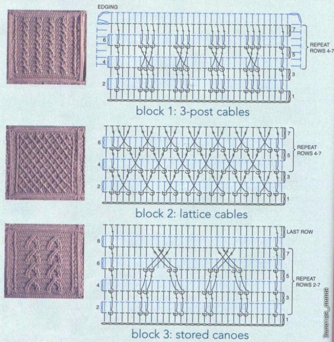 Рельефный узор крючком схема фото 960