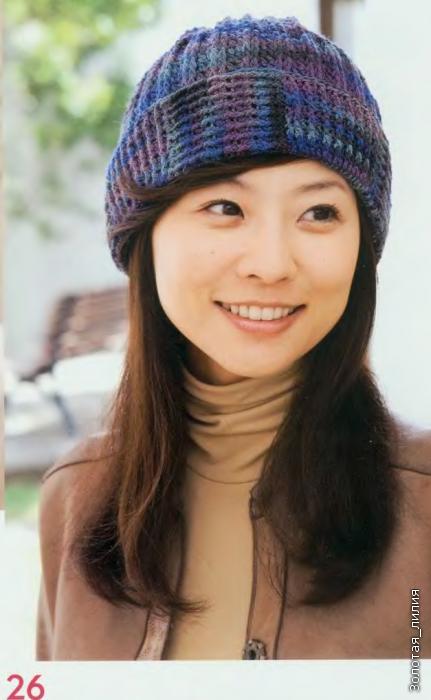 ...зимние женские вязаные шапки схемы, вязаная шапочка панда. вязание.