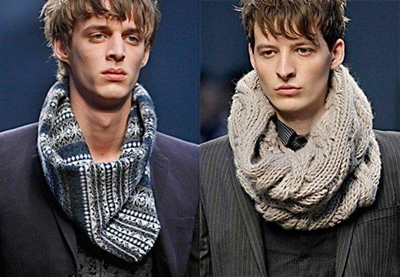 Вязанный снуд модный ... вещи на заказ - вязание крючком или.