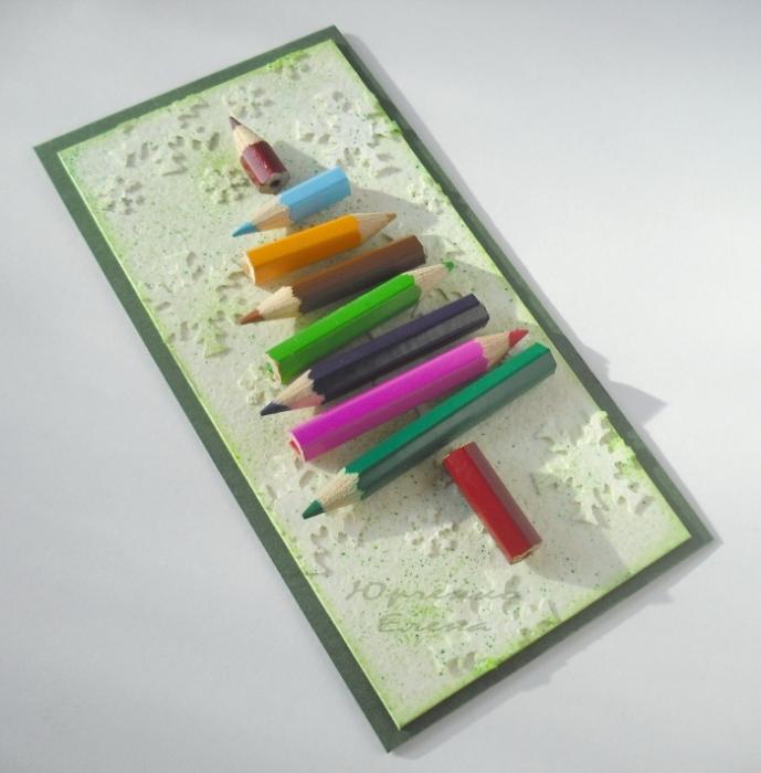 Открытка маме, как сделать открытку карандаш своими руками
