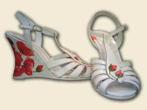 Тыквы-Рукодельницы.  Декупаж на обуви.