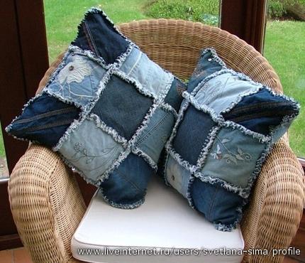 Такое можно сделать из старых штанов или юбки.