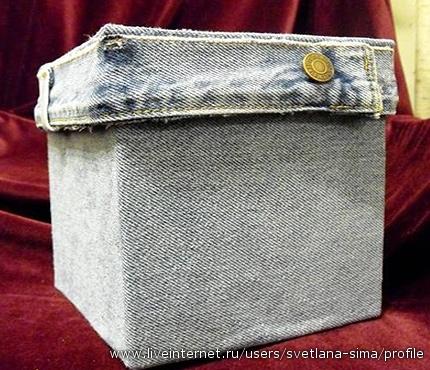 Что можно сделать из старых джинсов.  Много идей!  Прочитать целикомВ.