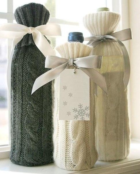 10 идей подарочной упаковки бутылки своими руками Handmadeidea