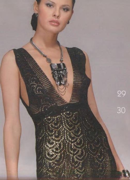 Вязать платье ленточным кружевом 159