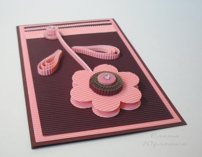 Календарями, поздравительная открытка из гофрированного картона