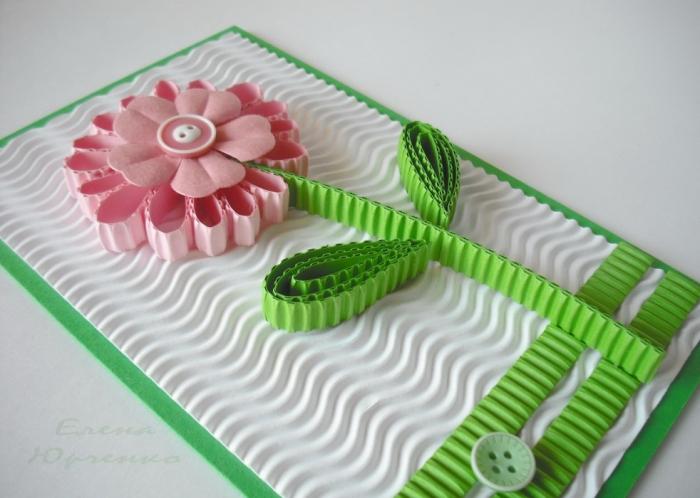 Днем рождения, открытки из гофрированной бумаги и картона