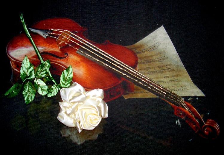 Картинки с скрипкой и розой