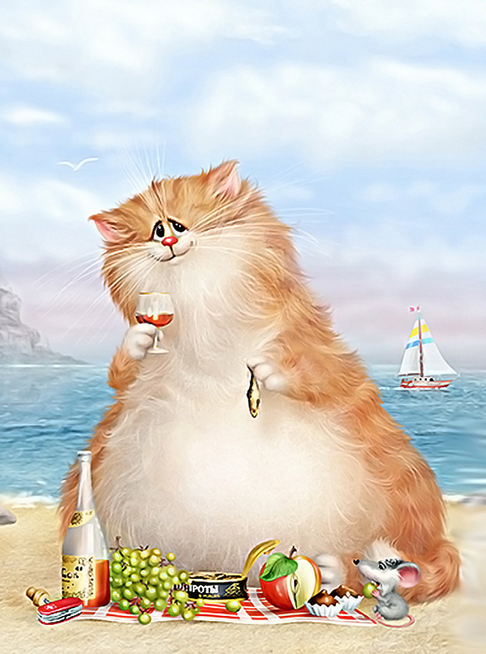 Открытки с котами прикольные с надписями на день, открытки днем