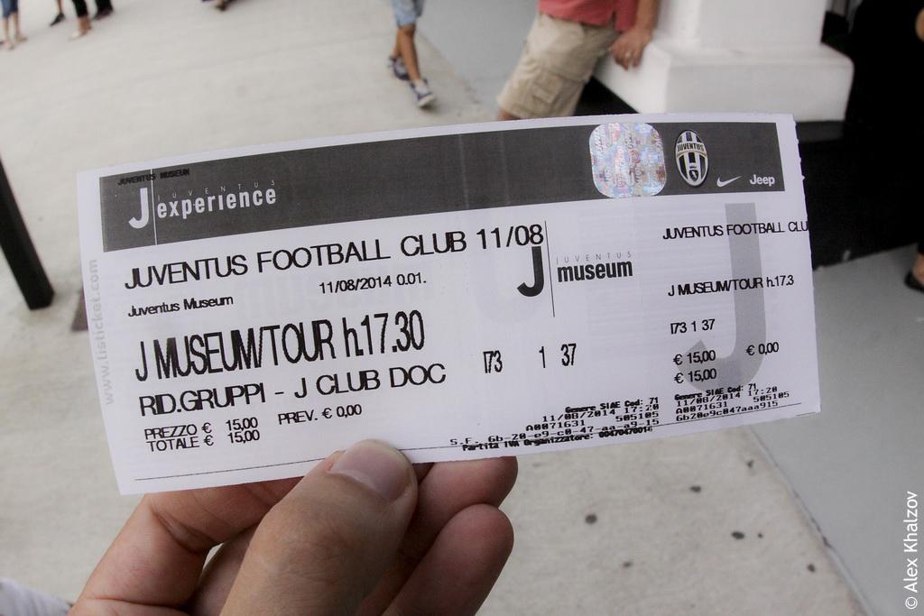 билет в музей Ювентуса