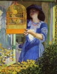 Frederick Frieseke (American painter, 1874-1939) The Open Window The Bird
