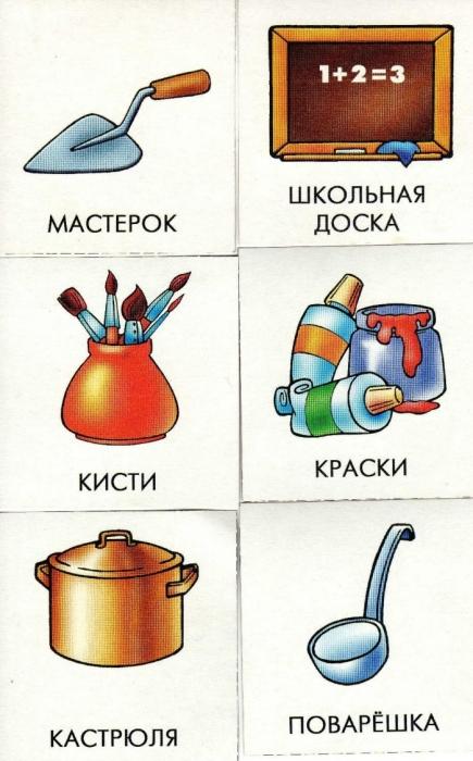 Картинки предметов различных профессий